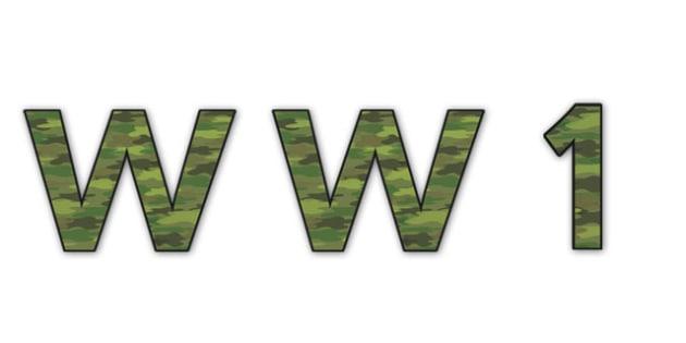 'WW1' Display Lettering - ww1 display lettering, world war one display lettering, world war one, world war 1, world war one lettering, world war 1 lettering
