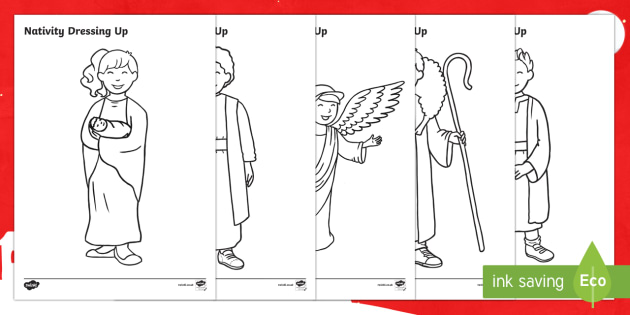 Children's Nativity Colouring Pages