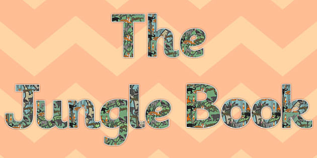 The Jungle Book Display Lettering - jungle book, display lettering