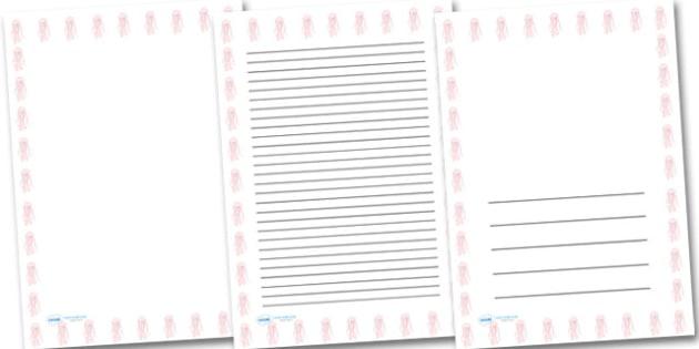 Jellyfish Portrait Page Borders- Portrait Page Borders - Page border, border, writing template, writing aid, writing frame, a4 border, template, templates, landscape