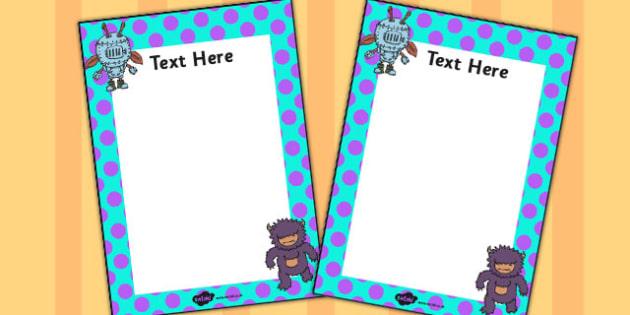 Monster Themed Editable Note - monster, editable, note, write