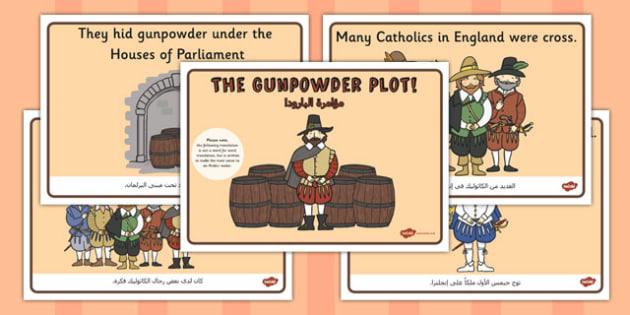 The Gunpowder Plot Story Sequencing Arabic Translation - arabic