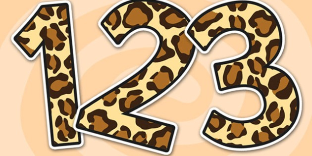 Leopard Pattern Display Numbers - safari, safari numbers, safari display numbers, leopard display numbers, leopard pattern display numbers, leopard pattern