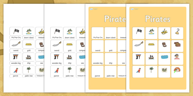 Pirates Vocabulary Matching Mat - pirates, vocabulary, vocabulary poster, pirates poster, display poster, poster for display, classroom display, posters