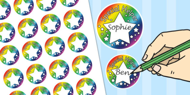 Special Helper Badges - special, helper, badges, special helper