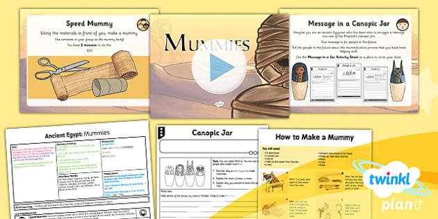 PlanIt - History LKS2 - Ancient Egypt Lesson 3: Mummies Lesson Pack