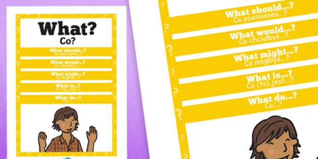 What Question Poster Polish Translation - posters, displays, display, questions