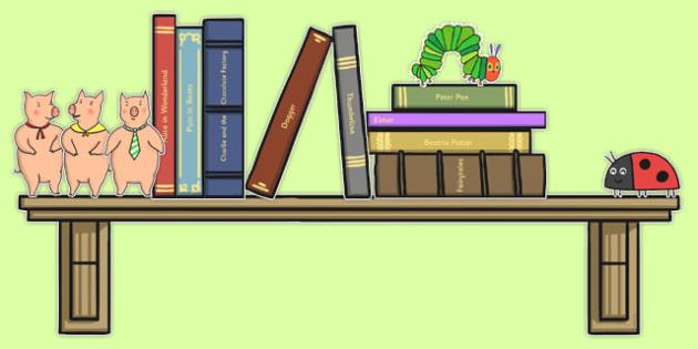 Book Corner Bookshelves Display Pack - book corner, bookshelves, display pack, display, pack