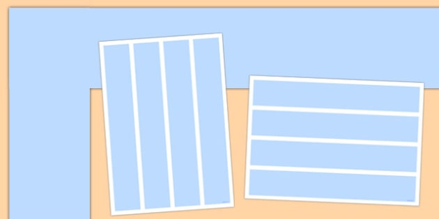 Neutral Pastel Blue Display Border - Neutral display