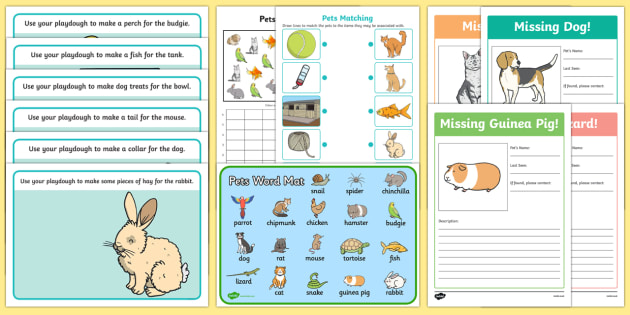 Pets Resource Pack - animals, pets, cats, dogs, rabbits, hamsters, guinea pigs,