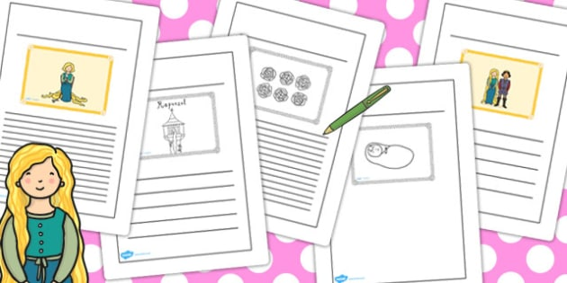 Rapunzel Story Writing Frames - story, writing frames, rapunzel
