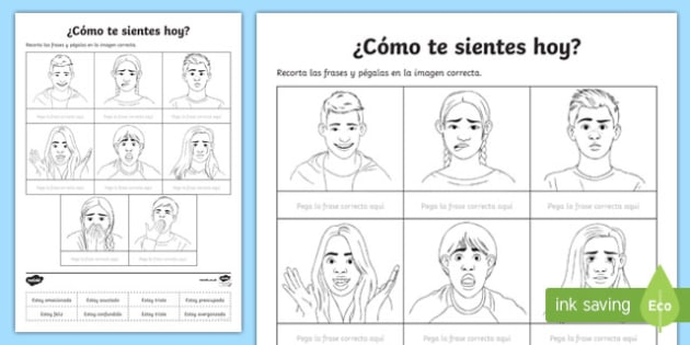 How Do You Feel Today Activity Sheet, worksheet