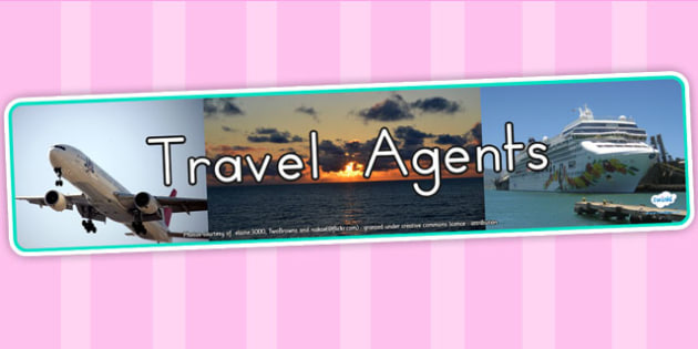 Travel Agents Photo Role Play Display Banner - travel agents