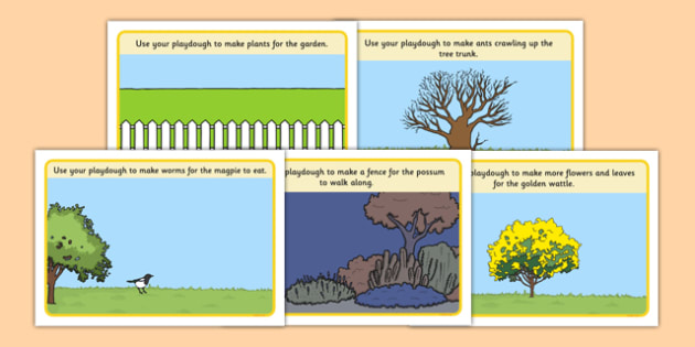 Backyard Habitat Playdough Mats - australia, Science, Year 1, Habitats, Australian Curriculum, Backyard, Living, Living Adventure, Environment, Living Things, Animals, Playdough Mat