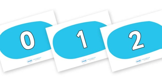 Numbers 0-100 on Speech Bubbles - 0-100, foundation stage numeracy, Number recognition, Number flashcards, counting, number frieze, Display numbers, number posters