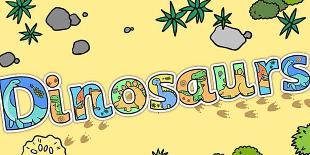 Dinosaurs Display Lettering (Cute) - cute dinosaurs, lettering
