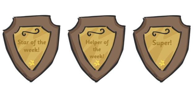 Classroom Award Plaques - Plaque, medal, award, reward, rewards, school reward, medal, good behaviour, award, good listener, good writing, good reading