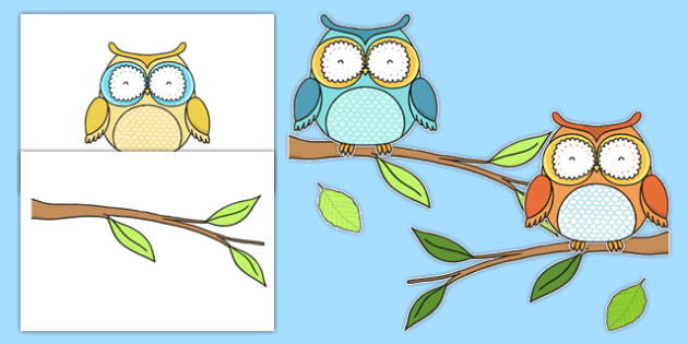 Owl Themed Wall Decals - classroom, labels, posters, areas, zones, banner, owlets, Early Years (EYFS), KS1 & KS2 Primary Teaching Resources