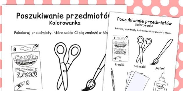Kolorowanka Powrot do szkoly po polsku - materialy edukacyjne , Polish