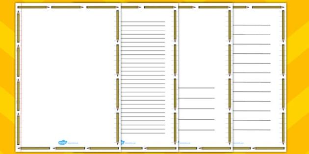 Pencil Page Border - pencil, page, border, page borders, borders