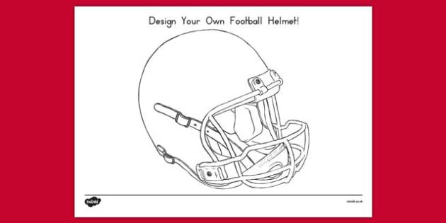 Design Your Own Football Helmet Template - usa, design, football helmet, football, helmet, template