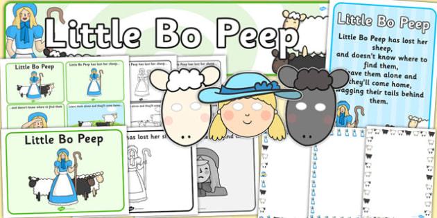 Little Bo Peep Resource Pack - little bo peep, resource pack, resources, pack of resources, themed resource pack, lesson ideas, little bo peep resources