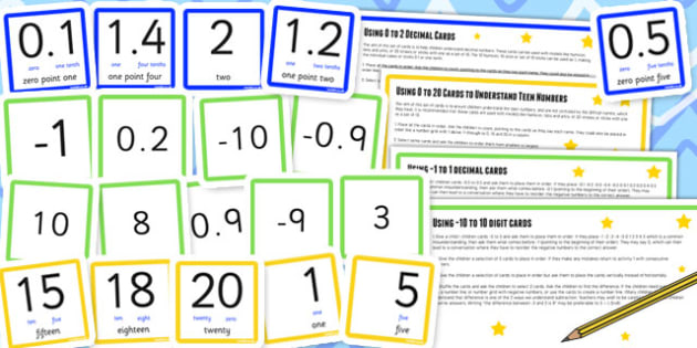 Number Digit Cards Activity Pack - place value, maths, visual aid