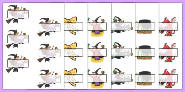 Editable Self-Registration to Support Teaching on Room on the Broom - room on the broom, self registration, self reg, daily routine, pupil registration, themed self reg