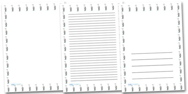 Heron Portrait Page Borders- Portrait Page Borders - Page border, border, writing template, writing aid, writing frame, a4 border, template, templates, landscape