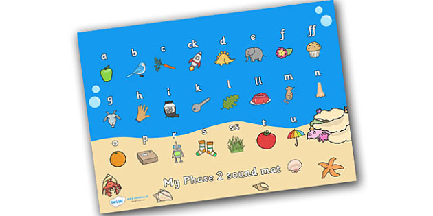 Under the Sea Themed Sount Mat Phase 3 - under the sea, under the sea sound mat, sound mat, sounds, phase 3 sound mat, letters and sounds, phonics, sounds