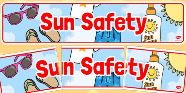 Sun Safety Display Banner - sun safety, display banner, banner