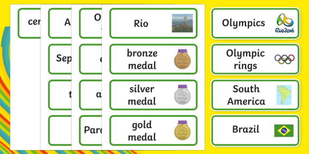 Rio Olympics 2016 SEN Picture Word Cards