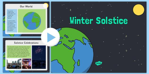 Winter Solstice PowerPoint - winter solstice, powerpoint, winter, solstice