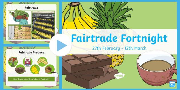 Fairtrade PowerPoint - Fairtrade, Bananas, Coffee beans, cocoa beans, Sugar, Flowers, Fair, Trade, Powerpoint, Information,