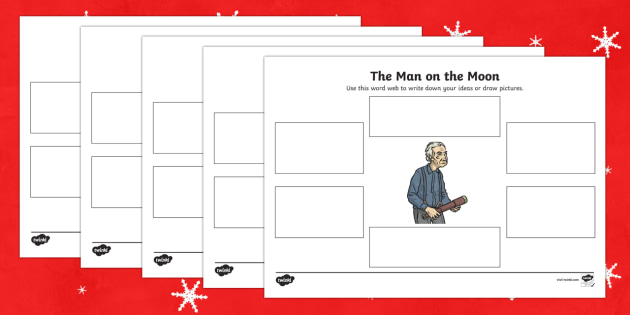 The Man on the Moon Word Web Frames - man on the moon, word, web, frames