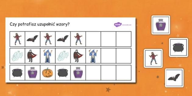 Układanie rytmów Halloween powtarzające się wzory po polsku