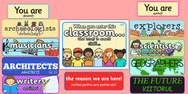 When You Enter this Classroom Display Pack Romanian Translation - romanian, display pack