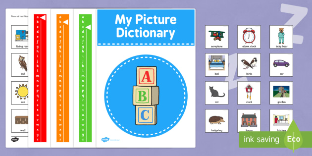 Peace at Last Picture Dictionary Word Cards - peace at last, picture, dictionary, word cards