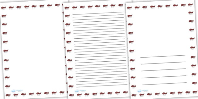 Ant Full Page Borders - page borders, ant page borders, ants, ant, ant border for page, minibeast page borders, ant page, A4, border for page, lined pages