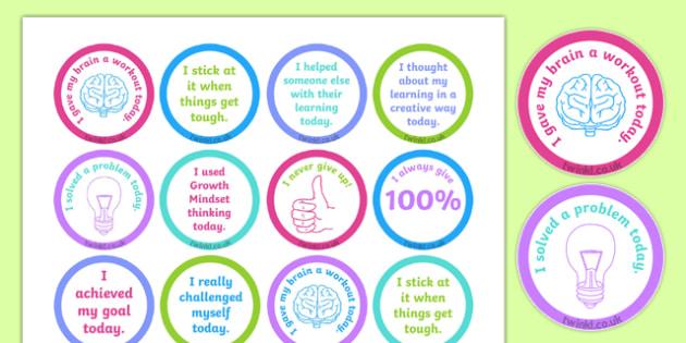 Growth Mindset Achievement Stickers-Australia