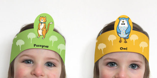 The Owl and the Pussycat Role Play Headband - roleplay, props