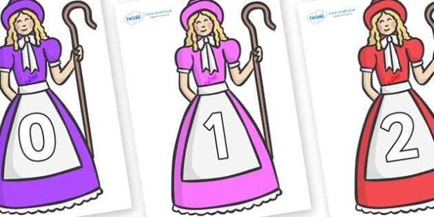 Numbers 0-100 on Little Bo Peep - 0-100, foundation stage numeracy, Number recognition, Number flashcards, counting, number frieze, Display numbers, number posters