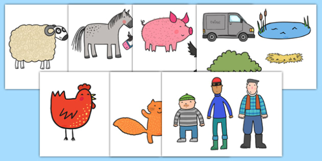 Twinkl Farm Animal Colouring Pages : Colouring sheets to support teaching on what the ladybird heard