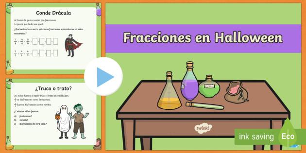 Fracciones en Halloween Presentación