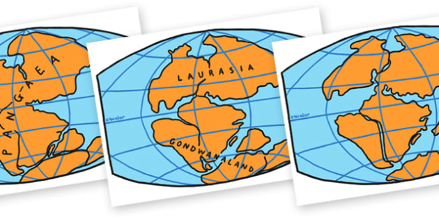 Continental Drift Maps - continental drift, maps, map about continental drift, geography, continent map, different continents, maps about continental drift