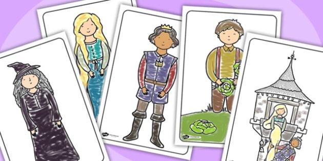 Rapunzel Colouring Sheets - education, home school, free, fun