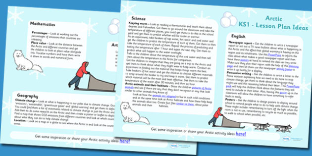 Arctic Lesson Plan Ideas KS2 - arctic, lesson plan, KS2, lessons