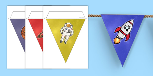 World Space Week Bunting - displays, display, visual, visuals