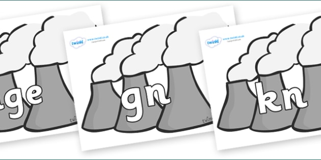 Silent Letters on Power Stations - Silent Letters, silent letter, letter blend, consonant, consonants, digraph, trigraph, A-Z letters, literacy, alphabet, letters, alternative sounds