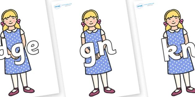 Silent Letters on Goldilocks - Silent Letters, silent letter, letter blend, consonant, consonants, digraph, trigraph, A-Z letters, literacy, alphabet, letters, alternative sounds